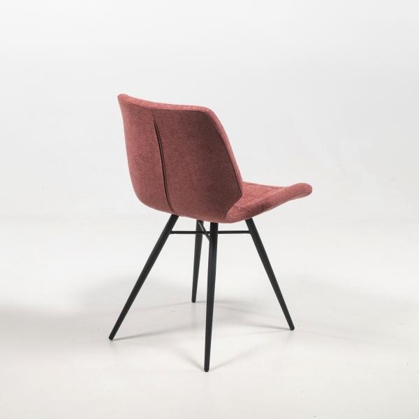 Chaise matelassée en tissu rose design vintage - Iberis - 10