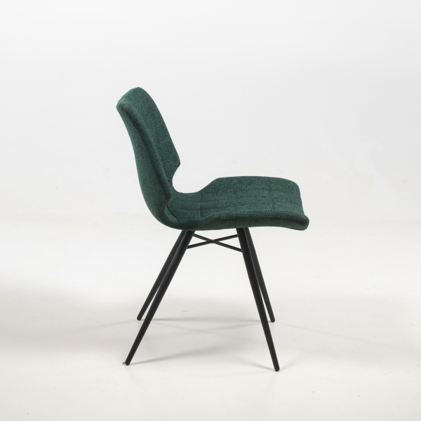 Chaise vintage verte en tissu - Iberis - 13