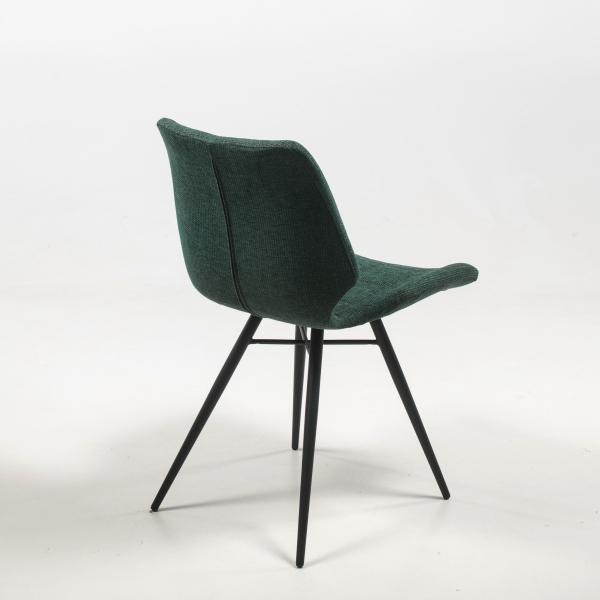 Chaise en tissu vert rembourrée et matelassée - Iberis - 15