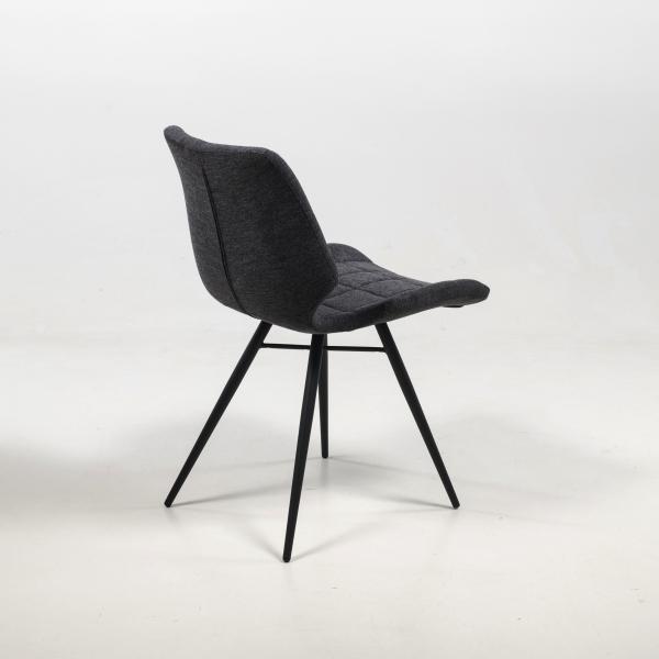 Chaise vintage grise matelassée - Iberis - 20