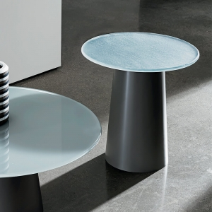 Table basse design ronde en verre - Totem Sovet®