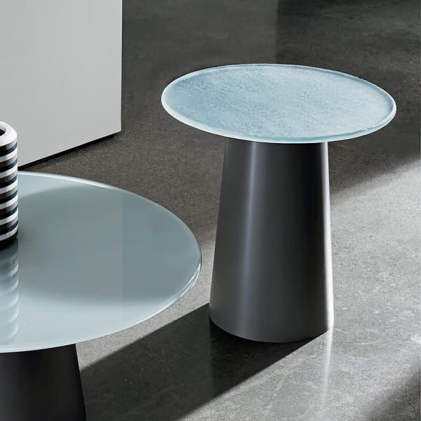Table basse design ronde en verre - Totem Sovet® - 1