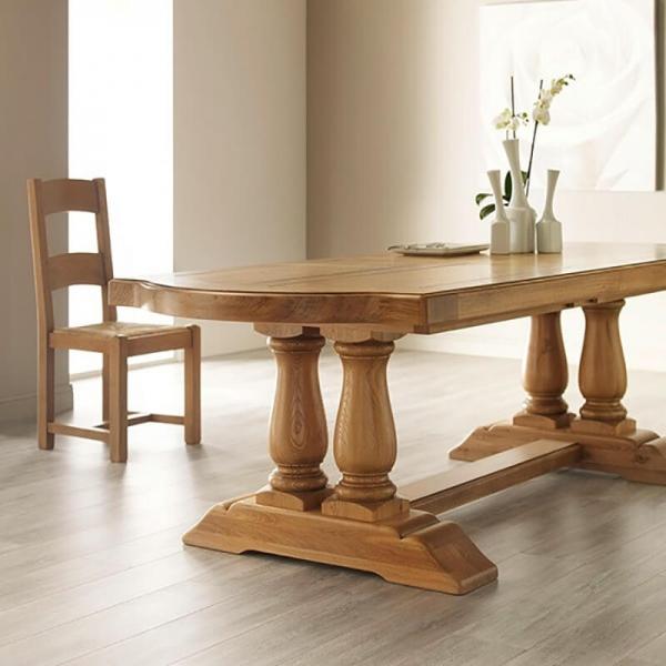 Table de monastère rustique en bois massif avec allonges - Monastère - 1
