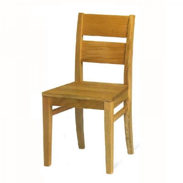 Chaise française rustique en chêne massif - Soja 1300 - 4