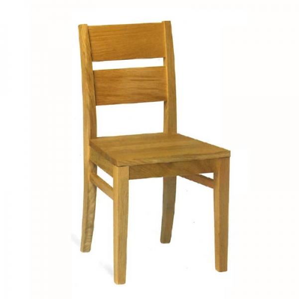 Chaise française rustique en chêne massif - Soja 1300 - 3