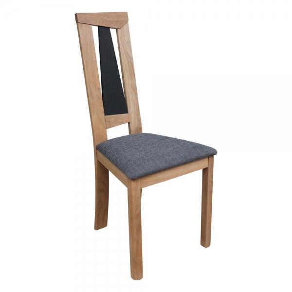 Chaise française dossier haut en chêne massif et assise tissu - Tower 1800G - 1