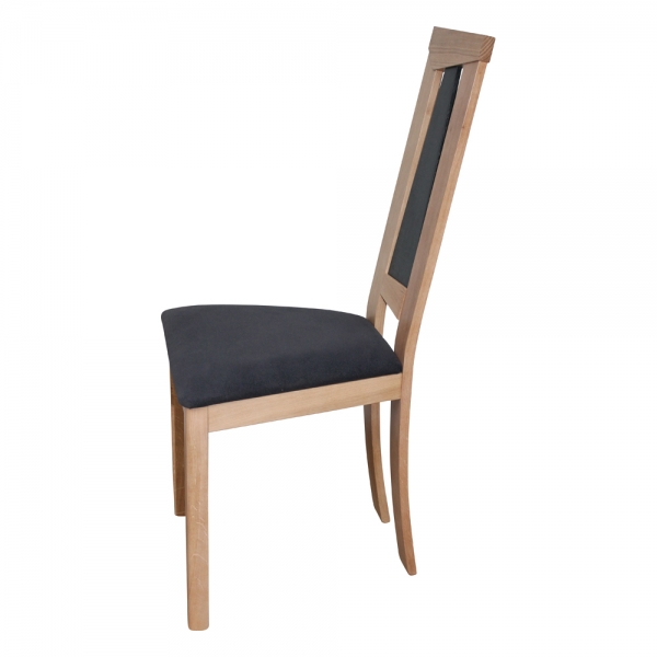 Chaise dossier haut en chêne massif et assise tissu - Tower 1800G - 9
