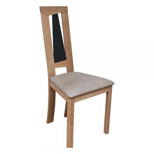 Chaise de salle à manger beige contemporaine fabrication française - Tower 1800L - 1
