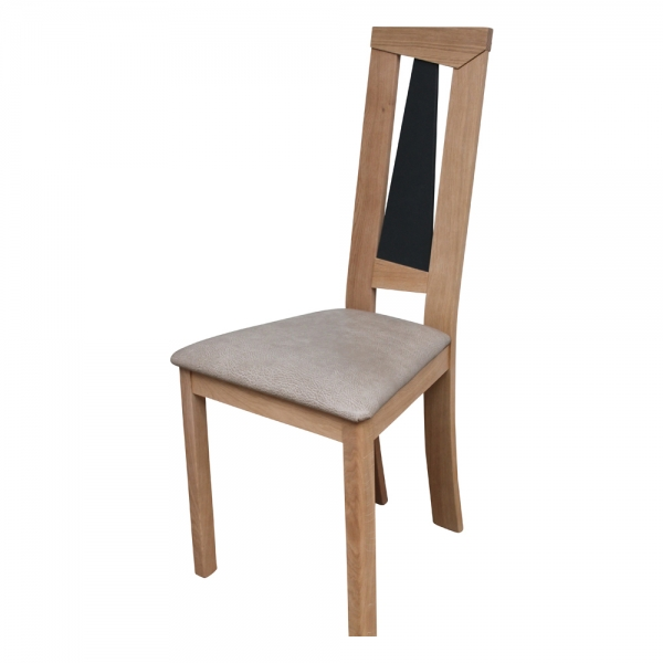 Chaise rembourrée beige style contemporain made in France - Tower 1800L - 2
