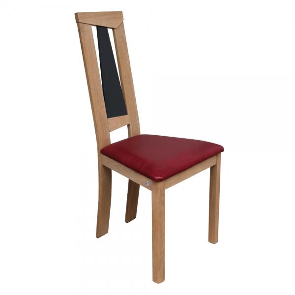 Chaise de séjour rouge en synthétique et bois fabriquée en France - Tower 1800L - 4