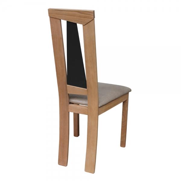Chaise de séjour bois et assise beige fabrication française - Tower 1800L - 3