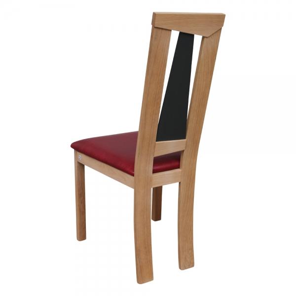 Chaise de salle à manger rouge et bois massif - Tower 1800L - 7
