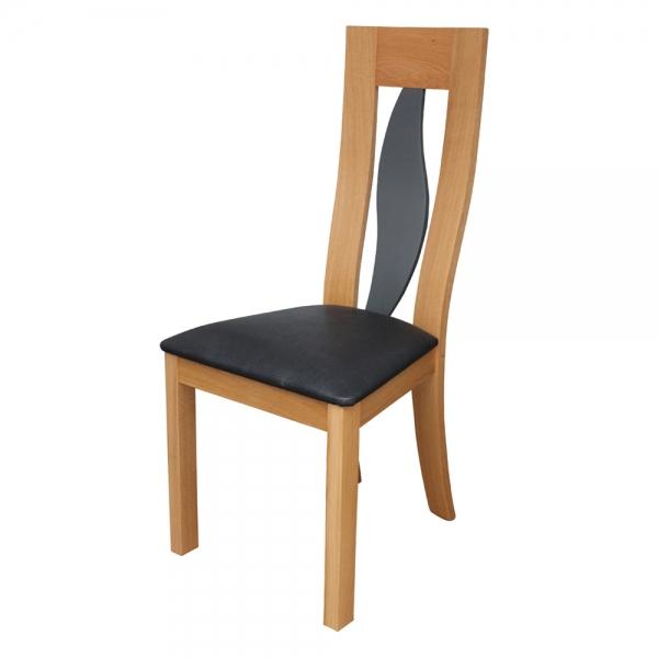 Chaise made in France en chêne massif contemporaine dossier en forme de vague - Sésame 1630 - 2