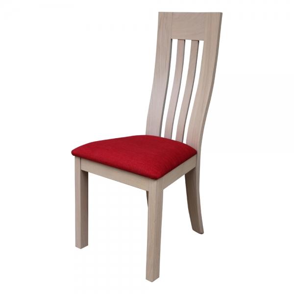 Chaise en bois massif et tissu fabrication française - Sésame 1620 - 2