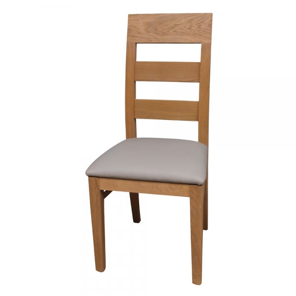 Chaise française en bois massif assise rembourrée - Soja 1320 - 2