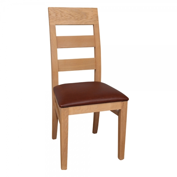 Chaise en bois massif assise rembourrée fabriquée en France - Soja 1320 - 6