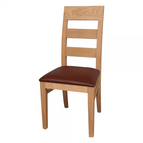 Chaise fabriquée en France en bois massif assise rembourrée - Soja 1320 - 7