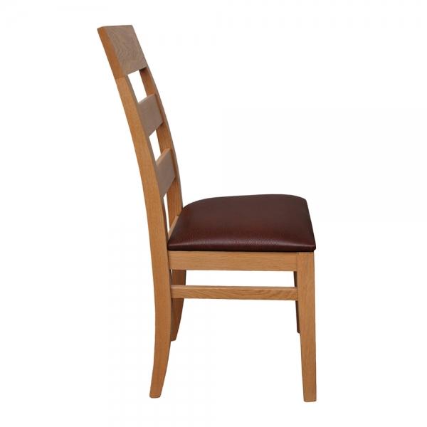 Chaise contemporaine en bois massif assise rembourrée fabrication française - Soja 1320 - 8