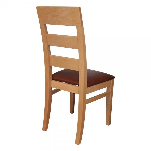 Chaise traditionnelle en bois massif assise rembourrée fabrication française - Soja 1320 - 9