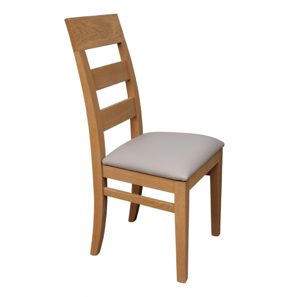 Chaise  fabrication française en bois massif assise rembourrée - Soja 1320 - 3