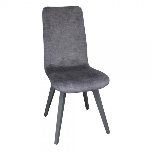 Chaise fabrication française en tissu et pieds bois - Lys - 1