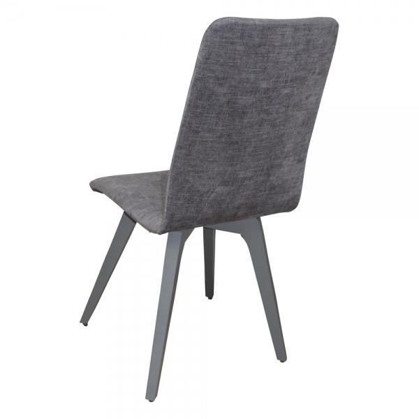 Chaise contemporaine fabrication française en tissu et pieds bois - Lys - 4