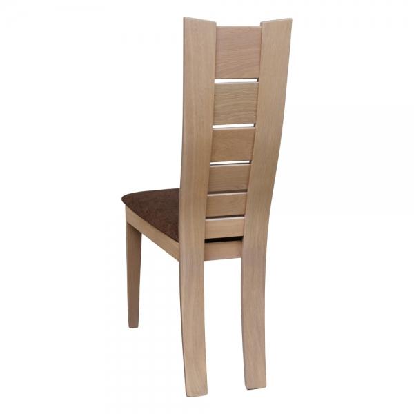 Chaise française style contemporain en bois et tissu marron - Anis 1450 - 4