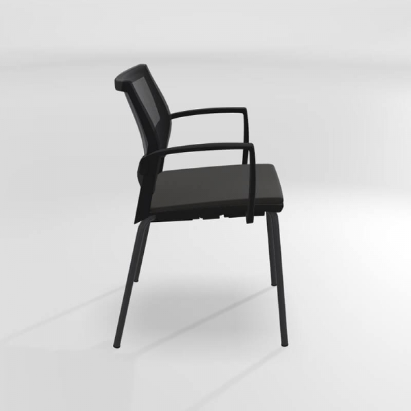 Chaise empilable avec accoudoirs tri-matière - Tecna - 4
