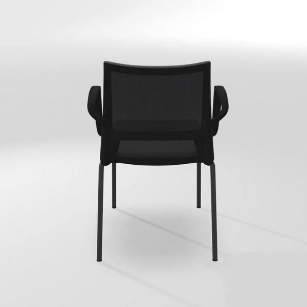 Chaise avec accoudoirs empilable tri-matière - Tecna - 5