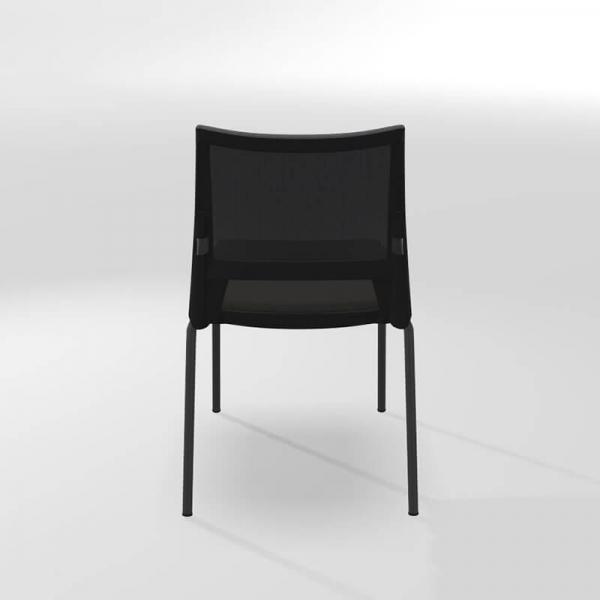 Chaise professionnelle empilable en métal, tissu et polypropylène - Tecna - 5