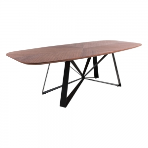 Table design en métal plateau tonneau - Star