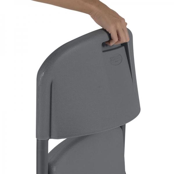 chaises pliable de collectivité Norman gris foncé - 11