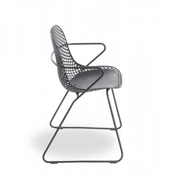 Chaise d'extérieur grise design vintage - Ramatuelle Grosfillex - 16