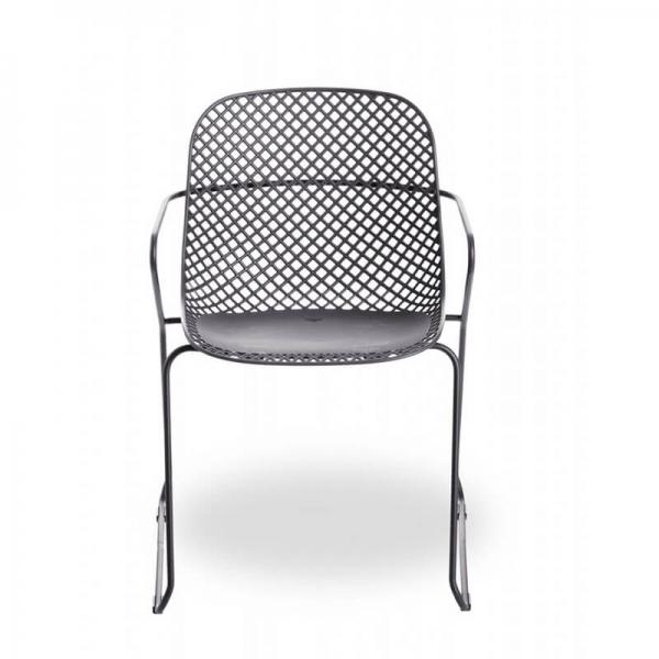 Chaise de jardin grise de fabrication française - Ramatuelle Grosfillex - 17