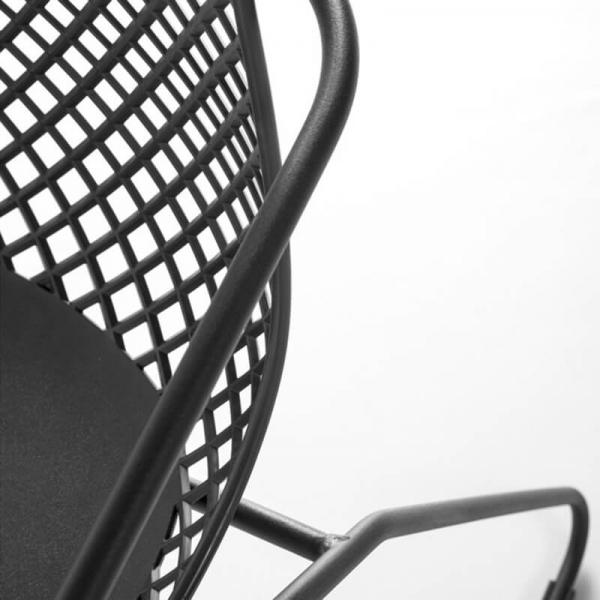 Chaise de jardin grise avec grillage en polypropylène - Ramatuelle Grosfillex - 18
