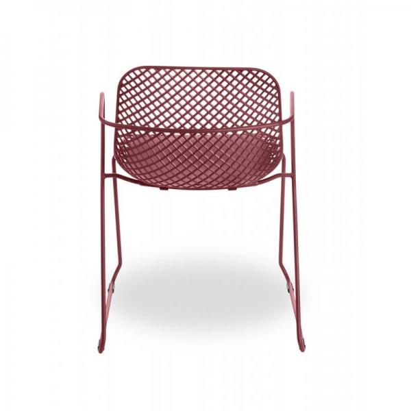 Chaise de terrasse rouge design vintage - Ramatuelle Grosfillex - 26