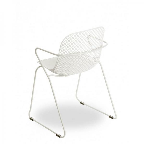 Chaise de jardin blanche design de fabrication française - Ramatuelle Grosfillex - 10