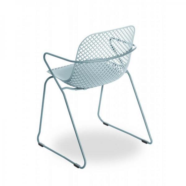 Chaise avec accoudoirs bleue fabrication française - Ramatuelle Grosfillex - 5