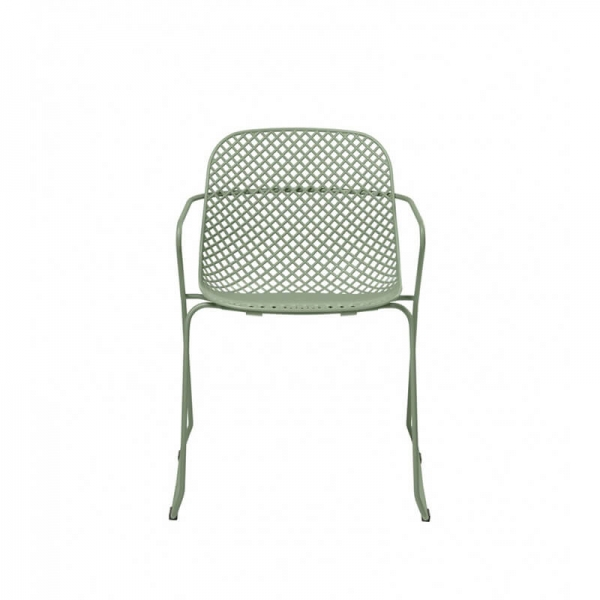 Chaise pieds luge design verte empilable - Ramatuelle Grosfillex - 31