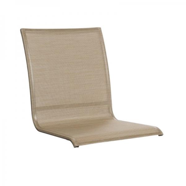 Toile en textilène beige pour fauteuil de jardin - Sunset Grosfillex - 27