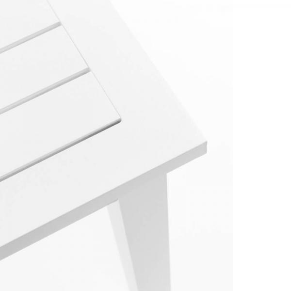 Table de jardin extensible blanche en aluminium - Triptic Grosfillex - 2