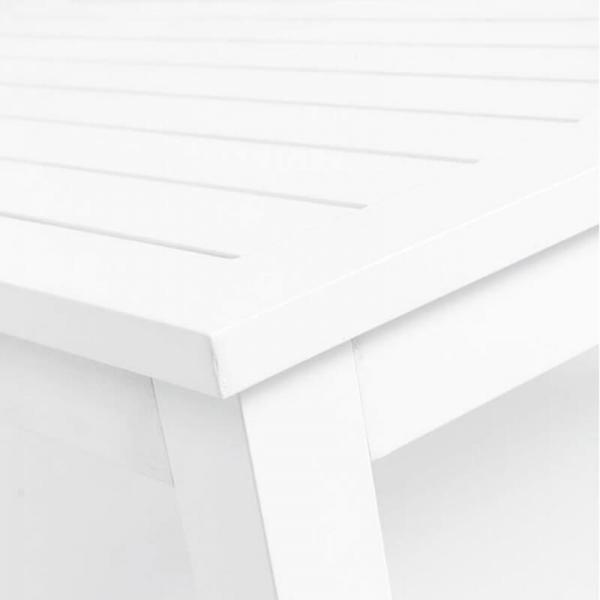 Table de jardin en aluminium blanc extensible - Triptic Grosfillex - 3