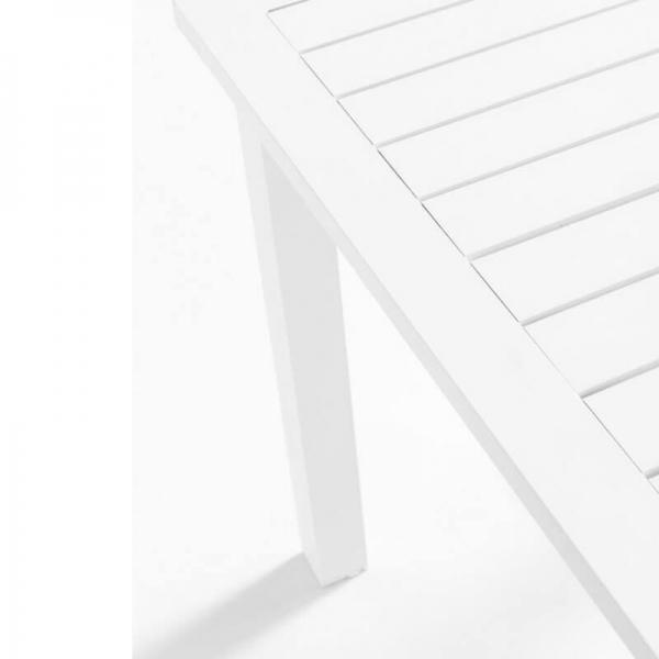 Table blanche de jardin avec rallonge - Triptic Grosfillex - 4