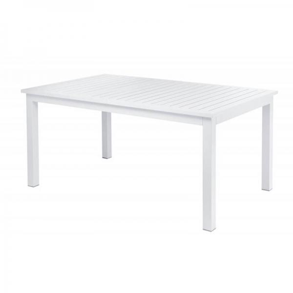 Table rectangulaire de jardin blanche en aluminium - Triptic Grosfillex - 1