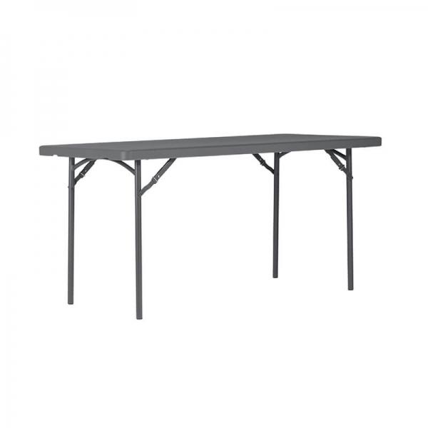 Table pliante en polyéthylène et métal - XL - 2