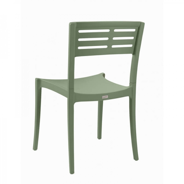 Chaise de terrasse verte empilable - Urban Grosfillex - 8