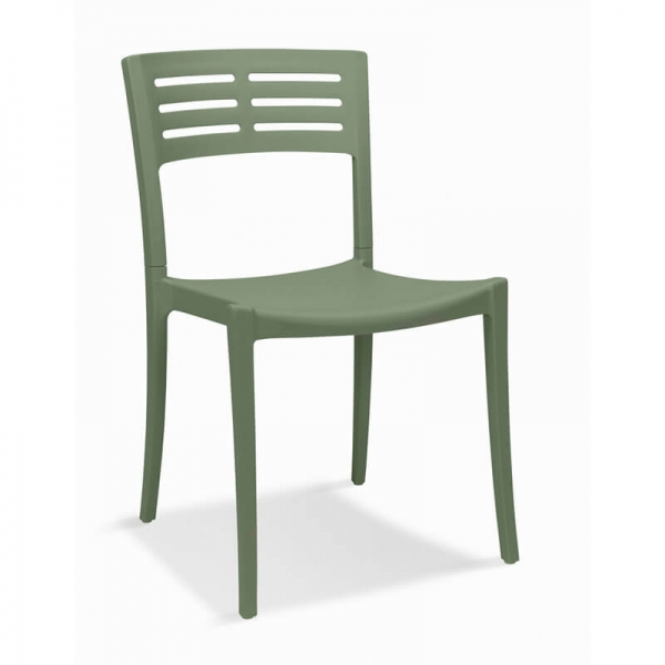 Chaise de jardin verte empilable made in France - Urban Grosfillex - 7