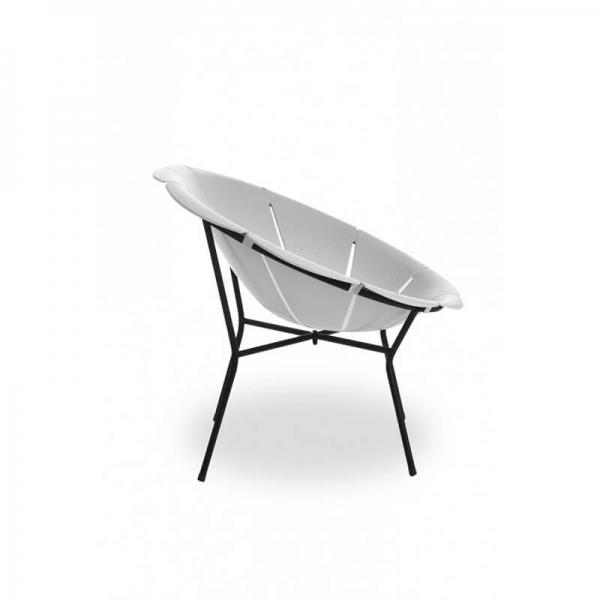 Fauteuil bas de jardin style vintage blanc - Yéyé Grosfillex - 14