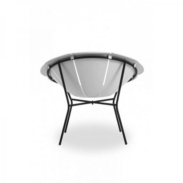 Fauteuil bas de jardin blanc design vintage - Yéyé Grosfillex - 15
