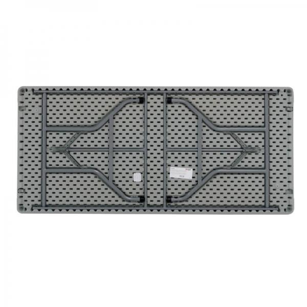 Table pliante rectangulaire gris clair - XXL - 3